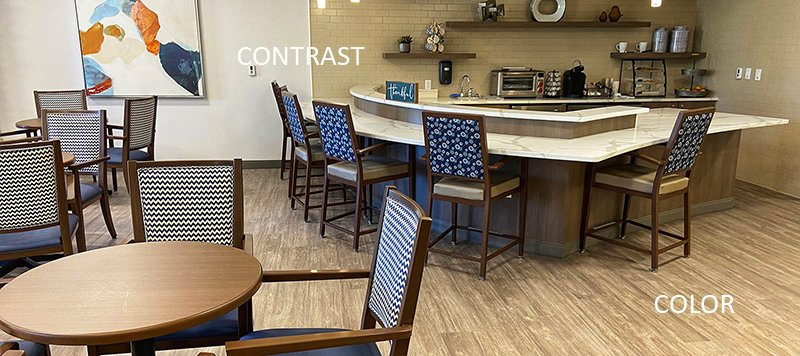 Color and Contrast in Senior Living